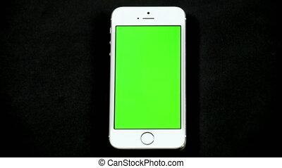 smartphone, schermo tocco, dito, gest