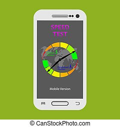 Smartphone screen showing data transfer speed test