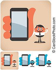smartphone, segurando