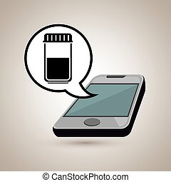 smartphone service medical icon
