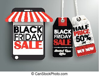 Smartphone Shop 2 Price Stickers Black Friday