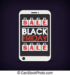 Smartphone Shopping Bags Black Friday