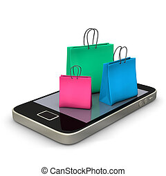 Smartphone Shopping Bags
