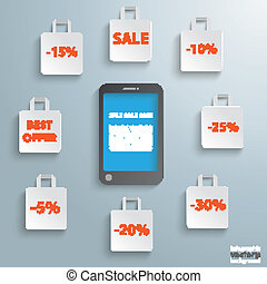 Smartphone Shopping Bags Sale