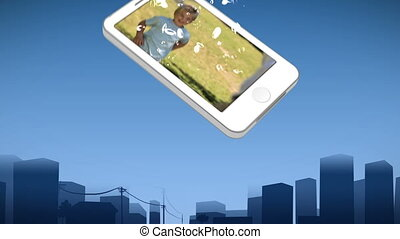 Smartphone showing a boy