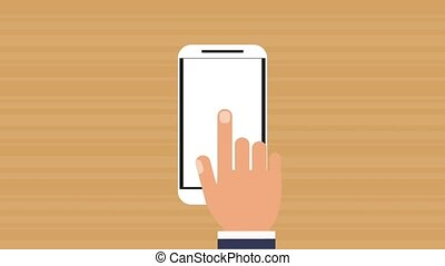 Smartphone showing statistics HD animation
