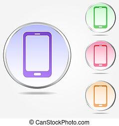 Smartphone sign icon