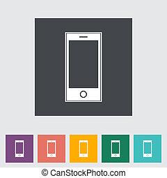 Smartphone single flat icon.