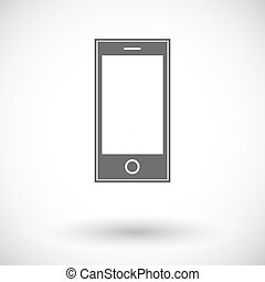 Smartphone single icon.