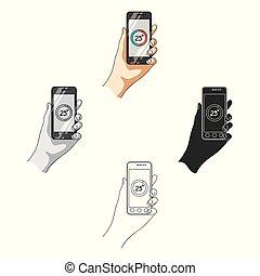 Smartphone, single icon in cartoon style.Smartphone, vector symbol stock illustration web.