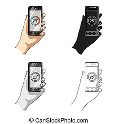 Smartphone, single icon in cartoon style.Smartphone, vector symbol stock illustration web.