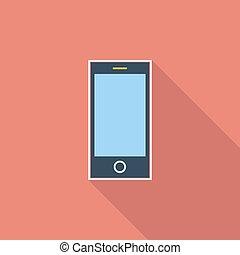 Smartphone single icon.