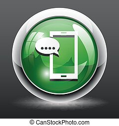 Smartphone sms icon Button