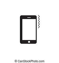 smartphone, sonner, mobile, pictogramme, vibrer, téléphone, vecteur, anneau, icône