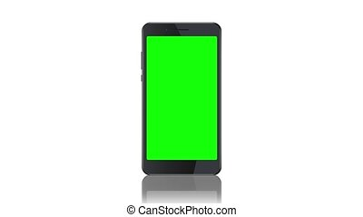 Smartphone static template on white background. Black...