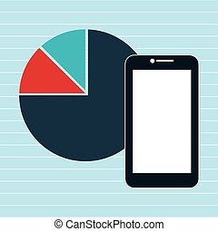 smartphone statistics icon