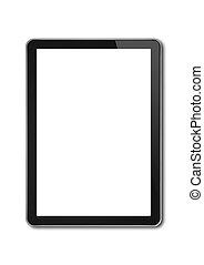 smartphone, számítógép, tabletta, elszigetelt, sablon, digitális, fehér