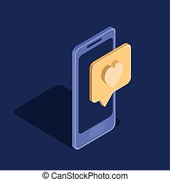 smartphone technology device isolated icon