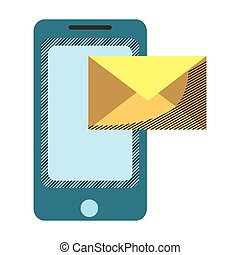 smartphone technology with electronic e-mail message