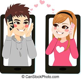 Smartphone Teenager Love