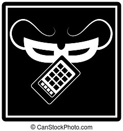 Smartphone Theft - An image of a smartphone theft icon.