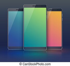 smartphone, three-piece, zbiór, sprzęt
