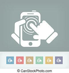 Smartphone touchscreen icon concept