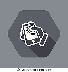 Smartphone touchscreen icon - Flat and isolated vector...