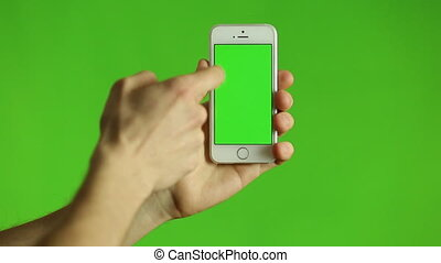 Smartphone Touchscreen Tap, Swipe and Spread