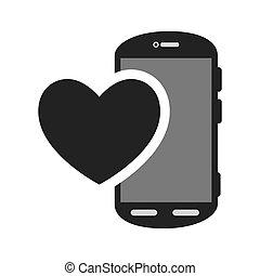 smartphone, tragbar, vorrichtung