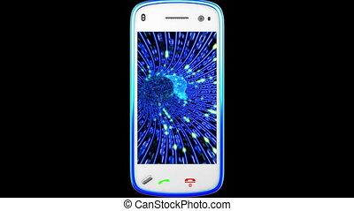 Smartphone turning on black