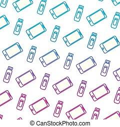smartphone, usb, hintergrund, gedächtnis, degraded,...