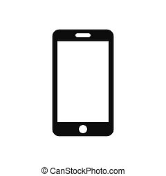 Smartphone vector icon, mobile phone symbol in modern design style for web site and mobile app