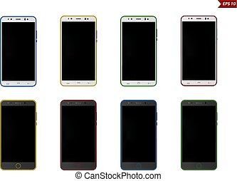 smartphone vector illustration isolated on white background