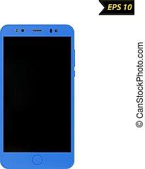 Smartphone vector illustration on white background.