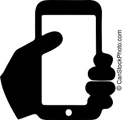 smartphone vector on white background