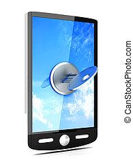 smartphone, verschlossen