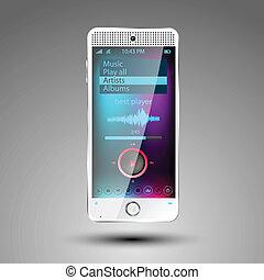 smartphone, vetorial, editable, arquivo