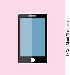 smartphone, vettore, multimedia