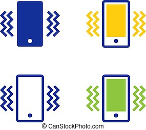 Smartphone vibration icons