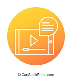 smartphone video online education and development elearning gradient style icon