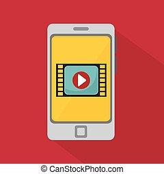 smartphone video player media