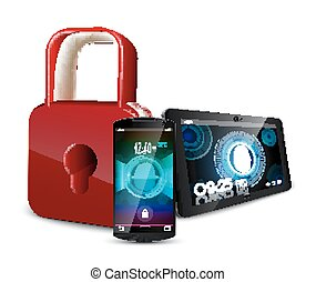smartphone, vinger, tablet