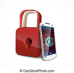 smartphone, vingerafdruk