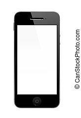 smartphone, vystavit, čistý