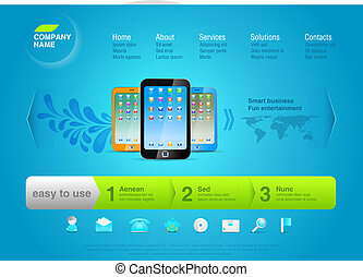 Smartphone. Web Design template.
