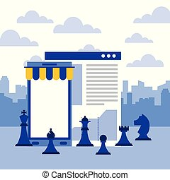 smartphone website report chess pieces strategy business