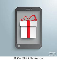 Smartphone White Gift
