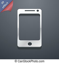 smartphone widescreen icon symbol. 3D style. Trendy, modern design with space for your text Vector