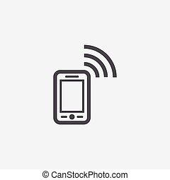 smartphone wifi icon.